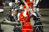 Dancers Doing the Traditional Moreska Sword Dance  in Korcula  Dalmatian Coast  Croatia  Europe