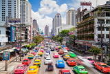 Traffic Congestion in Central Bangkok  Thailand  Southeast Asia  Asia