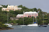 Houses in Pitts Bay  Hamilton City  Pembroke Parish  Bermuda  Central America