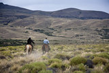 Gauchos Riding Horses  Patagonia  Argentina  South America
