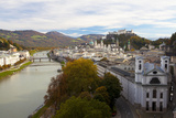 Overview of Salzburg in Autumn  Salzburg  Austria  Europe