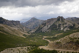 View over the Cordoba Pass in the Lanin National Park  Patagonia  Argentina  South America
