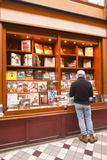 A Book Shop in Passage Jouffroy  Central Paris  France  Europe