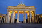Brandenburg Gate at Night  Berlin  Germany  Europe