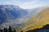 Autumn Colours in Chamonix Valley  Chamonix  Haute-Savoie  French Alps  France  Europe