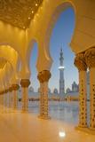 Sheikh Zayed Bin Sultan Al Nahyan Mosque at Dusk  Abu Dhabi  United Arab Emirates  Middle East