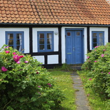 Traditional Half-Timbered House  Gammel Skagen  Jutland  Denmark  Scandinavia  Europe