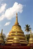 The Gilded Stupas of Wat In  Kengtung (Kyaingtong)  Shan State  Myanmar (Burma)  Asia