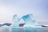 Grounded Icebergs  Sydkap  Scoresbysund  Northeast Greenland  Polar Regions
