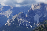 The Rugged Rosengarten Peaks in the Dolomites Near Canazei  Trentino-Alto Adige  Italy  Europe