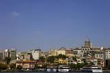 The Galata Tower and City Along the Bosphorus Strait  Istanbul  Turkey  Europe  Eurasia