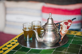 Moroccan Mint Tea Pot at a Cafe in Marrakech  Morocco  North Africa  Africa