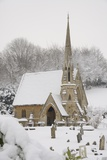 Box Cemetery Chapel after Heavy Snow  Box  Wiltshire  England  United Kingdom  Europe