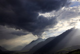 Summer Storm Clearing over the Mountains of the Valais Region  Swiss Alps  Switzerland  Europe