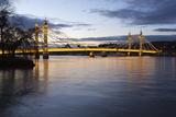 Albert Bridge over the River Thames  Chelsea  London  England  United Kingdom  Europe