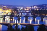 Bridges on the Vltava River  UNESCO World Heritage Site  Prague  Czech Republic  Europe