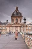Morning Commuters on the Pont Des Arts  Paris  France  Europe