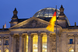Close-Up of the Reichstag at Night  Berlin  Germany  Europe