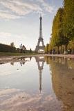 The Eiffel Tower from Champ De Mars  Paris  France  Europe
