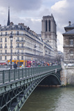 The Banks of the Seine and Notre Dame De Paris Cathedral  Paris  France  Europe