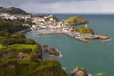 View over Ilfracombe  Devon  England  United Kingdom  Europe