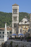 The St Stephen Cathedral in the Medieval City of Hvar  Island of Hvar  Croatia  Europe