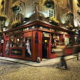 The Temple Bar Pub at Night  Temple Bar  Dublin  County Dublin  Republic of Ireland  Europe