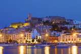 Ibiza Harbour at Night  Ibiza  Balearic Islands  Spain  Europe