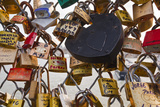 Love Locks on the Pont Des Arts in Paris  France  Europe