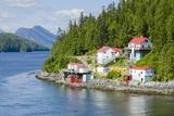 Boat Bluff Lightstation  Inside Passage  British Columbia  Canada  North America