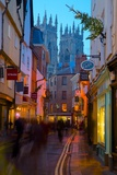 Colliergate and York Minster at Christmas  York  Yorkshire  England  United Kingdom  Europe