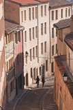 People Walking Through the Old Part of the City of Lyon  Lyon  Rhone-Alpes  France  Europe