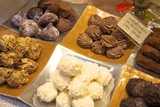 Chocolate Truffles in a Sweet Shop  Brussels  Belgium  Europe