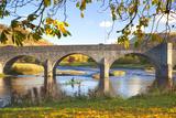 River Wye and Bridge  Builth Wells  Powys  Wales  United Kingdom  Europe