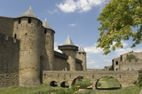Outer Walls of the Old City  Carcassonne  UNESCO World Heritage Site  Languedoc  France  Europe