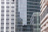 Abstract of Buildings in the La Defense District  Paris  France  Europe
