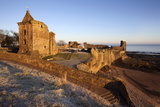 St Andrews Castle at Dawn  Fife  Scotland  United Kingdom  Europe