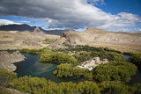 View over the Limay River in the Lake District  Patagonia  Argentina  South America