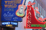 Neon Signs on Broadway Street  Nashville  Tennessee  United States of America  North America