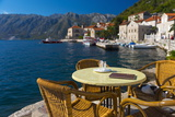 Montenegro  Bay of Kotor  Perast  Waterside Cafe
