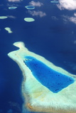 Aerial View of the Maldives  Indian Ocean  Asia