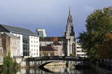 Holy Trinity Church and River Lee  Cork City  County Cork  Munster  Republic of Ireland  Europe