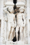 Gothic Sculptures  Duomo (Milan Cathedral)  Milan  Lombardy  Italy  Europe