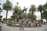 Plaza 9 Julio  the Main Square in Salta City  Argentina  South America