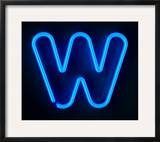 Neon Sign Letter W