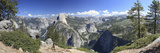Panoramic View of Half Dome and Vernal Falls in Yosemite National Park  California  USA