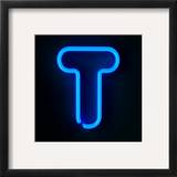 Neon Sign Letter T