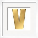 Letter V From Gold Solid Alphabet