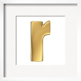 Letter H From Gold Solid Alphabet Lowercase