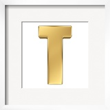 Letter T From Gold Solid Alphabet
